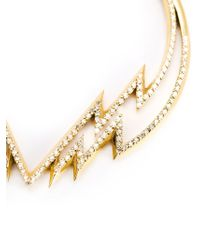 Venyx - Metallic 'electra' Diamond Hoop Earrings - Lyst