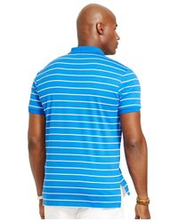 Polo Ralph Lauren | Blue Big & Tall Striped Pima Polo for Men | Lyst