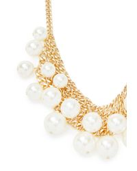 Forever 21 | Metallic Faux Peal Statement Necklace | Lyst