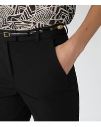 Reiss - Black Marianne Slim Studded Belt - Lyst