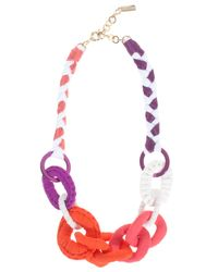 Missoni | Pink Fabric Beaded Necklace | Lyst