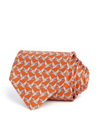 Ferragamo - Orange Duck Classic Tie for Men - Lyst