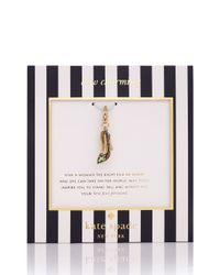 kate spade new york - Metallic Engagement Ring Charm - Lyst