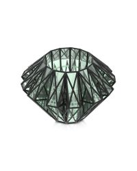 Vojd Studios - Gray Translucent Glass Cage Statement Cuff - Lyst