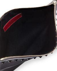 Valentino - Black Rockstud Bicolor Zip Pouch - Lyst