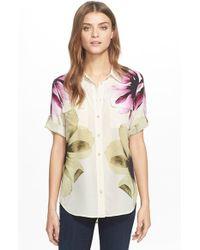 Equipment | White 'slim Signature' Floral Print Silk Shirt | Lyst