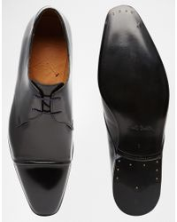 PS by Paul Smith | Black Robin Toe Cap Derby Shoes for Men | Lyst