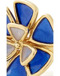 Alison Lou | Blue Wildflower Enamel Ring | Lyst