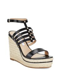 Diane von Furstenberg | Black Gabby Espadrilles Platform Wedge Sandal | Lyst