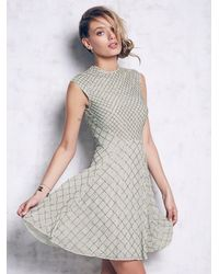 Free People | Green Circle Mesh Dress | Lyst