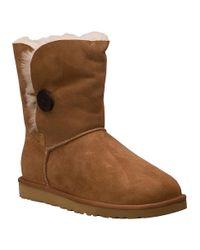UGG | Brown Bailey Button Boot Chestnut Suede | Lyst