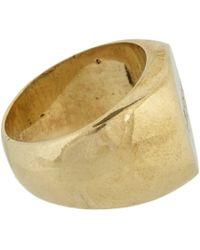 Fallon - Metallic Kween Hoodlum Signet Ring - Lyst