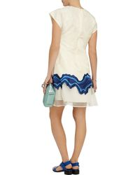 3.1 Phillip Lim - Blue Stretch Silk-jacquard Dress - Lyst