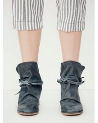 Free People | Blue Womens Moonshine Wrap Boot | Lyst