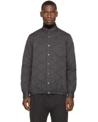 Sacai | Gray Grey Quilted Jacket for Men | Lyst