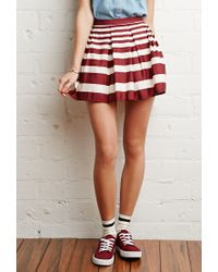 Forever 21 | Red Pleated Mini Skirt | Lyst