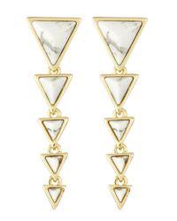 House of Harlow 1960 | White Meteora Drop Earrings | Lyst