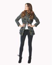 Veronica Beard - Green Elba Hooded Flack Jacket - Lyst