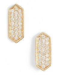 Dana Rebecca | Metallic 'cynthia Rose' Diamond Pave Stud Earrings | Lyst