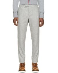 Moncler Gamme Bleu | Gray Grey Wool Trousers for Men | Lyst