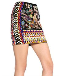 Emilio Pucci | Black Beaded Miniskirt | Lyst
