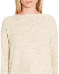 Lauren by Ralph Lauren | Natural Seed-stitched Sweater | Lyst