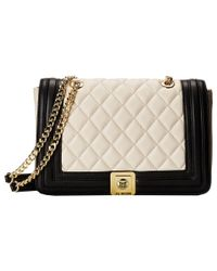 Love Moschino | Natural Quilted Flap Vers Crossbody Bag | Lyst