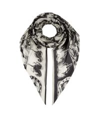 Stella McCartney - Multicolor Horse Print Silk Scarf - Lyst