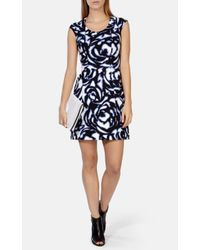 Karen Millen - Multicolor Graphic Floral Dress - Lyst