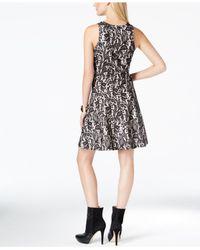 Karen Kane - Multicolor Lace-print A-line Dress - Lyst