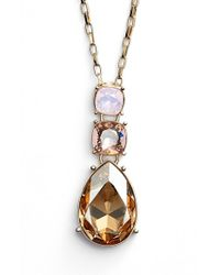 St. John | Metallic Swarovski Crystal Pendant Necklace - Opal | Lyst