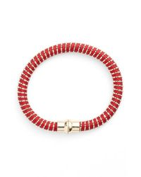 Nu Brand - Red Beaded Bracelet - Lyst