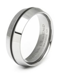 Swiss Legend | Metallic Men's Domed Tungsten Carbide Ring for Men | Lyst