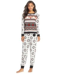 Kensie | Gray 'arctic Chill' Knit Pajamas | Lyst