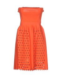 Fendi - Orange Short Dress - Lyst