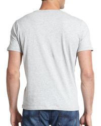 DIESEL - Gray T-zosimor Printed Cotton Tee for Men - Lyst