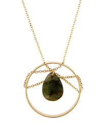 Panacea | Metallic Chain-wrapped Round Pendant Necklace | Lyst