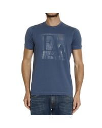 Emporio Armani | Blue T-shirt for Men | Lyst