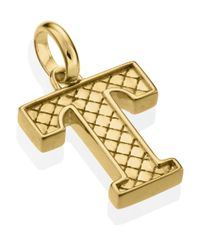 Monica Vinader | Metallic Gold-plated Alphabet Pendant T | Lyst