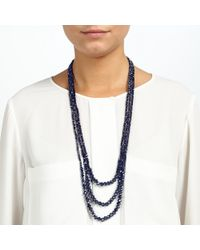 John Lewis | Blue Sparkle Long Layered Necklace | Lyst