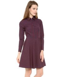 Cynthia Rowley | Purple Gingham Shirtdress | Lyst