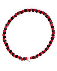 Luis Morais | Black Mini Scarab Beaded Bracelet | Lyst