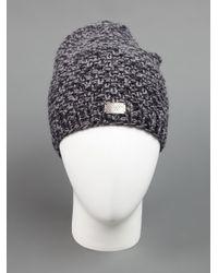 Werkstatt:münchen - Gray Knit Beanie Hat for Men - Lyst