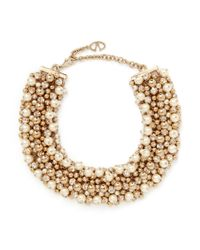 Valentino - Metallic Pearl Crystal Cluster Choker Necklace - Lyst