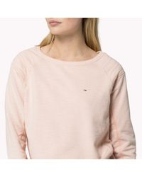 Tommy Hilfiger | Pink Cotton Blend Crew Neck Sweater | Lyst