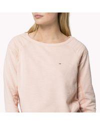 Tommy Hilfiger - Pink Cotton Blend Crew Neck Sweater - Lyst