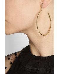 Chloé - Metallic Goldtone Hoop Earrings - Lyst