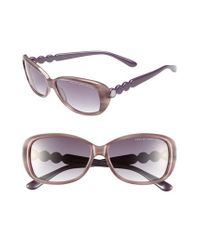Marc By Marc Jacobs - 56mm Sunglasses - Purple/ Dark Grey Gradient - Lyst