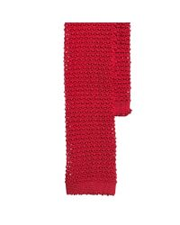 Polo Ralph Lauren - Red Solid Knit Silk Tie for Men - Lyst
