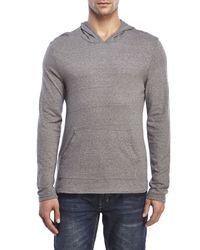 Alternative Apparel - Gray Hooded Long Sleeve Shirt for Men - Lyst